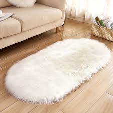 thick plush rugs lovely white oval