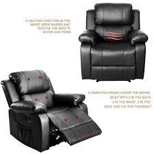 boyel living black pu heated massage