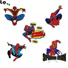 Cartoon Spider Man Wall Sticker Creative Printed Superhero Spiderman Vinyl Wall Decal For Kids Room Bedroom Home Decor Cw0144 Vinyl Wall Decals Wall Decalswall Sticker Aliexpress