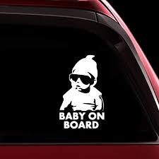 Amazon Com Totomo Baby On Board Sticker Funny Cute Safety Caution Decal Sign With Carlos From The Hangover For Cars Windows And Bumpers Ali 001 Automotive