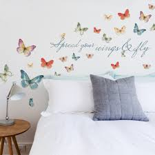Roommates Lisa Audit Butterfly Quote Peel And Stick Wall Decals Walmart Com Walmart Com