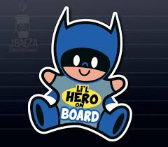 Little Hero Batman Baby On Board Car Decal For The Mini Superhero In Your Life Baby Batman Car Stickers Baby Car Safety