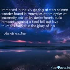 immersed in the sky gazin quotes writings by ank