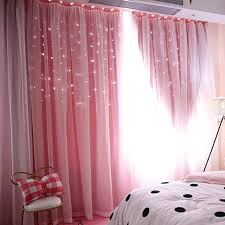 Star Curtains Stars Blackout Curtains For Kids Girls Bedroom Living Room Double Deck Cloth Blackout Floor Standing Curtain Star Hollow Curtain Drape 1 Panel 78 X40 Walmart Com Walmart Com