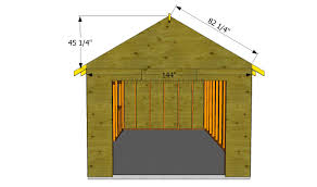 how to build a garage roof