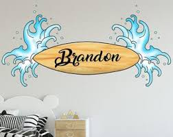 Surfboard Wall Decal Etsy