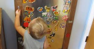 Diy Kid S Magnet Activity Board Using Old Puzzle Pieces Kids At Repinned Net
