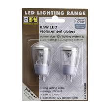 hpm 12v led garden light bulbs 2 pack