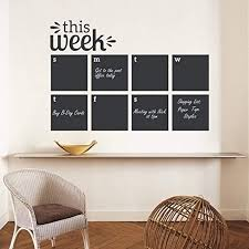 Amazon Com Ljqta Wall Sticker Wall Decal This Week Blackboard Planner Removable Vinyl Chalkboard Calendar Decor Sticker Memo Home Wall Decal Sticker Home Kitchen