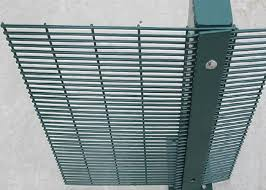 High Security Fence 358 Security Mesh Pvc Coated 1 8 X 2 2meter With 80x80mm Post