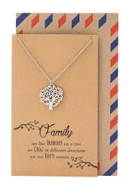 zena mothers day gifts family tree necklace and quotes greeting