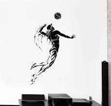 Vinyl Wall Decal Volleyball Player Sports Girl Woman Stickers Unique G Wallstickers4you