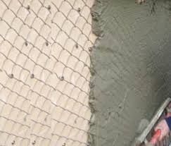 Light Type Chain Link Plastering Mesh Galvanized Or Black Mesh