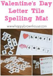 letter tile spelling mat