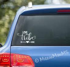 Love My Tribe Custom Car Window Sticker Car Decal Car Etsy
