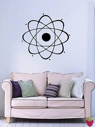 Amazon Com Designtorefine Atom Nuclear Science Physics Chemistry Decor Wall Mural Vinyl Decal Sticker M024 22 5 In By 24 In Home Kitchen
