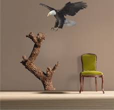 Bald Eagle And Tree Decal Mural Tree Wall Decal Murals Primedecals