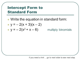 converting quadratic equations ppt