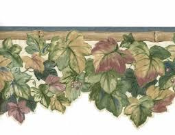 Blue Bamboo Grape Leaves Vines Die Cut Ivy Graham & Brown Wallpaper Border  15 Ft for sale online | eBay