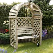 Blooma Chiltern Round Wood Arbour Departments Diy At B Q