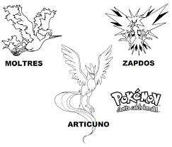 All Legendary Pokemon Coloring Pages
