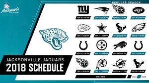 Jacksonville Jaguars announce 2018 schedule