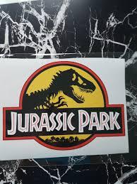 Rare Jurassic Park Car Decal Sticker Car Accessories Accessories On Carousell