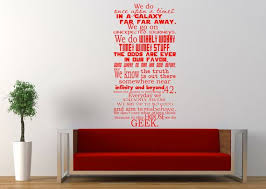 Large Size In This House We Do Geek Wall Decal Dr Who Harry Potter Star Wars Firefly Lord Of The Rings Game Of Th Wall Decals In This House We Geek