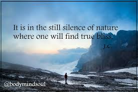 about the still silence in nature quote steemit