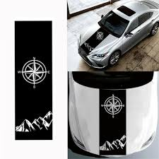 130x40cm Compass Pattern Car Hood Stickers Vinyl Decals Universal For Jeep For Wrangler Rubicon Jk C Sale Banggood Com