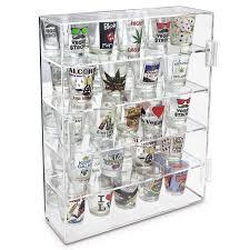 shot glasses display case