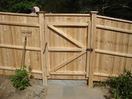 6 High Traditional Cedar Gate With Spring Closure Reliable Fence