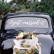 Amazon Com Just Married Car Wedding Day Car Window Decal 26 X5 Vinyl Decal Handmade