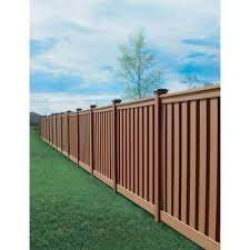 Trex Seclusions 6 Ft X 8 Ft Saddle Brown Wood Plastic Composite Board On Board Privacy Fence Panel Kit Tfspfk6 In 2020 Privacy Fence Panels Fence Design Fence Panels