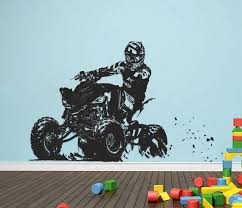 Atv Rider Wall Decal 4x4 Wheeler Off Road Wall Sticker Quad Etsy Kids Bedroom Wall Decor Wall Decals Wall Sticker
