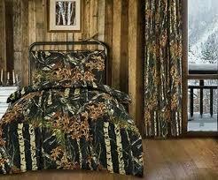 camouflage bedding woods microfiber