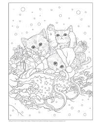 Santa S Kitty Helpers Holiday Coloring Book Design Originals