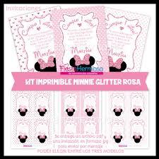 Nuevos Disenos Minnie Mouse Rosa Efecto Fiesta Hermosa Kits