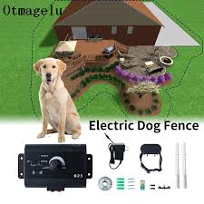 023 Safety Pet Dog Electric Fence With Waterproof Dog Electronic Training Collar Buried Electric Dog Fence Containment System Training Collars Aliexpress