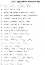 balancing equations chemistry