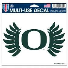 University Of Oregon Ducks Logo 5x6 Ultra Decal At Sticker Shoppe