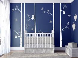 Birch Tree Set Of 5 Tree With Owl Birds Wall Decal Nice Wall Stickers For Kids Baby Room Decor Diy Nursery Tree Poster Ny 186 Wall Removable Decals Wall Removable Stickers From