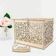 diy wedding card box rustic wood card