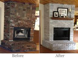 brick fireplace makeover before and