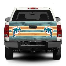 Product Miami Dolphins Football Logo Tailgate Decal Sticker Wrap Pick Up Truck Suv Car