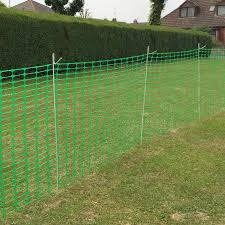 50m Heavy Duty Barrier Fencing 10 Steel Fencing Pins