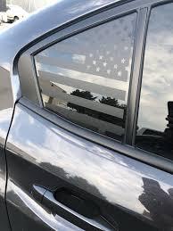 American Flag Quarter Window Decal 2015 2018 Subaru Sti Wrx Elevated Auto Styling