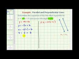 find the equation of a line parallel to