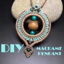 diy macrame pendant tribal pendant