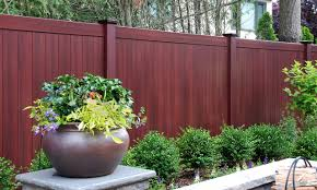 Best New Fence Idea Is Illusions Mahogany Pvc Vinyl Privacy Fencing Panels Traditional Garden New York By Illusions Vinyl Fence Houzz Uk
